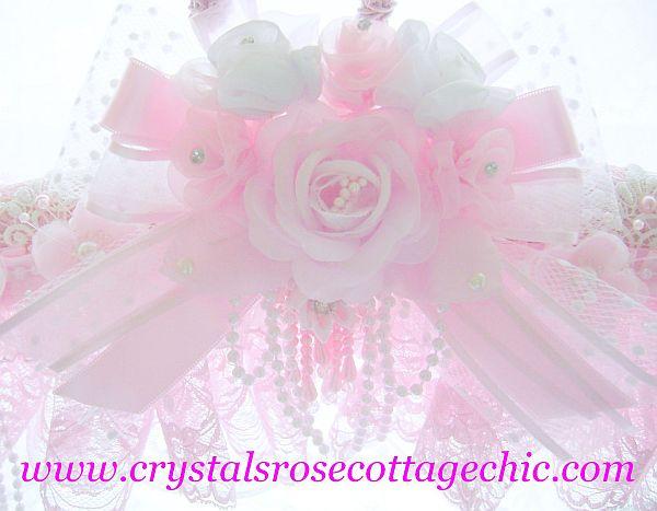 Romantic Pink Rose Embellished Hanger