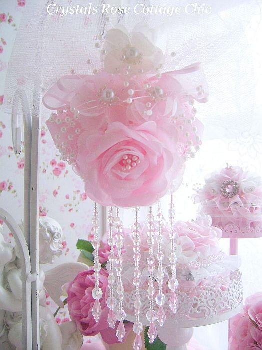 Romantique Victorian Pink Rose Ornament