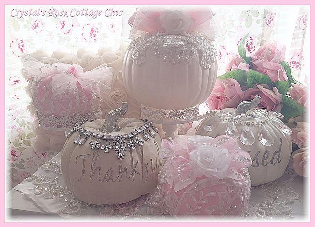 Romantic Lace Pink Pumpkin