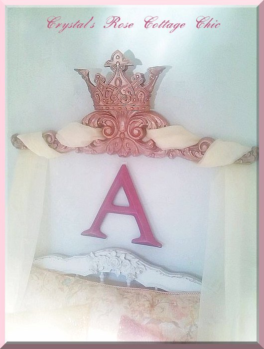 Crowning Glory Rose Gold Crown Pediment..Color Choices