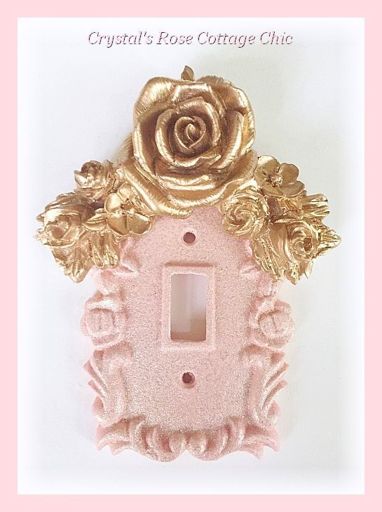 Floral Rose Swag Single Toggle Switchplate...Color & Finish Options