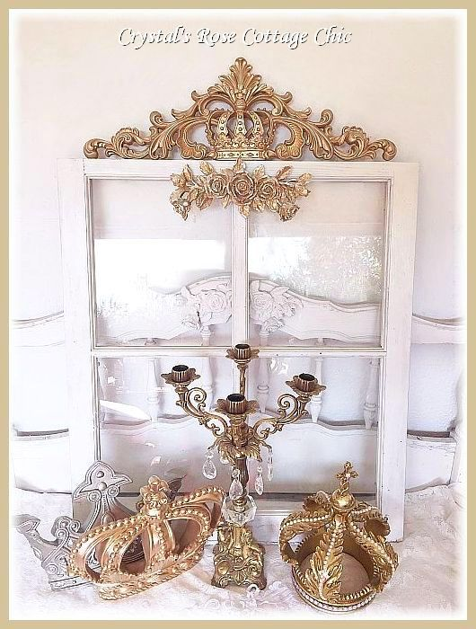 Ornate Distressed Crown Wall Decor / Applique
