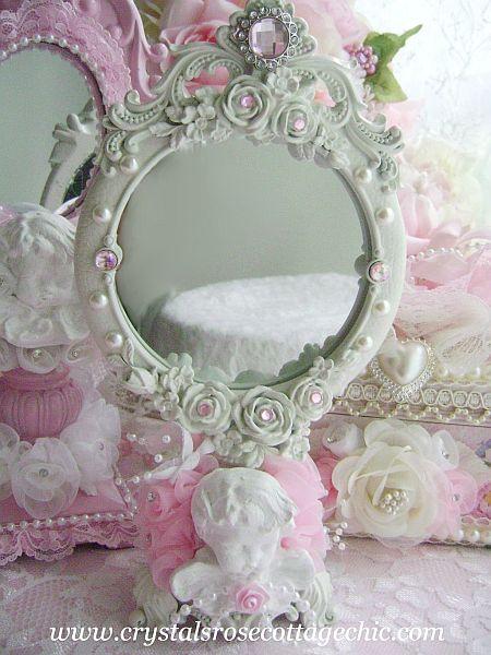 Shabby Chic Cherub Mirror