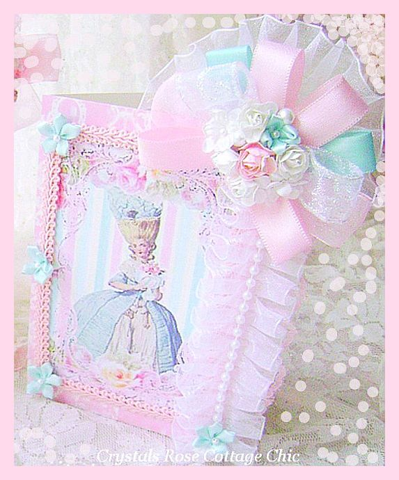 Light Aqua and Shabby Pink Marie Card