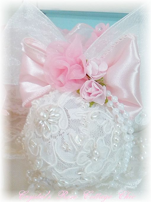 Romantic Beaded Lace Ornament