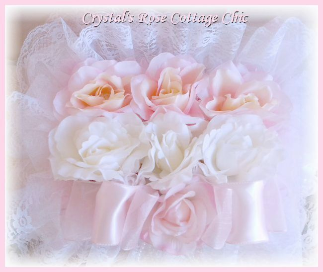 Shabby Chic Rose Covered Decorative Box