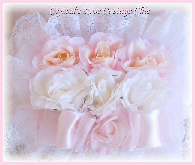 Shabby Chic Rose Covered Decorative Box