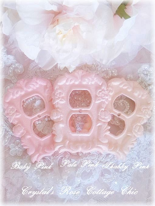 Shabby Chic Ornate Victorian Rose Wall Outlet Covers