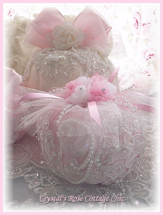 Lace and Roses Pink Pumpkin