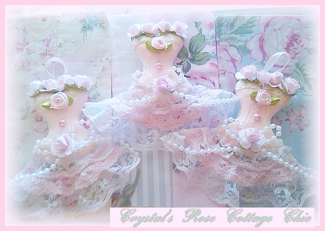 Shabby Pink Princess Dress Ornament