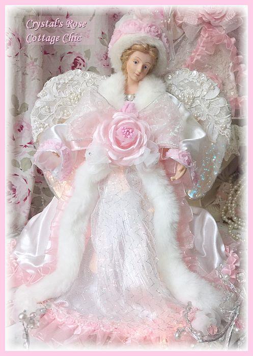 Pink Rose Fiber Optic Angel
