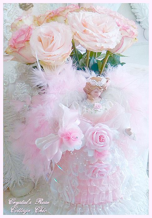Ruffles and Roses Angel Tree Topper