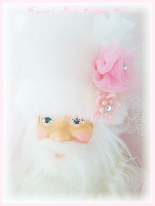 Shabby Chic Pink Santa
