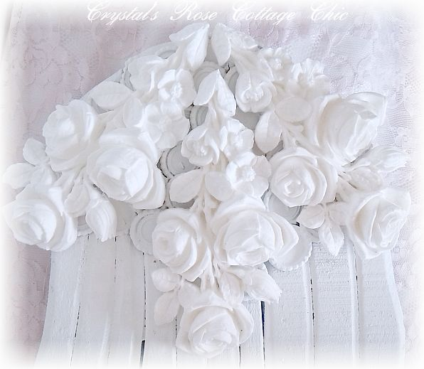 Shabby Chic Rose Wings..Color Choices