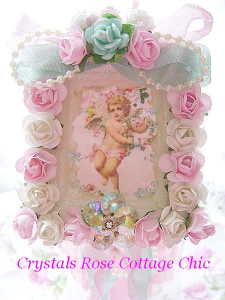 Romancing Vintage Roses and Cherub