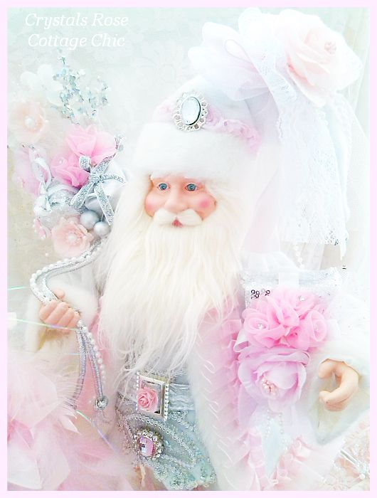 Shabby Pink Chic Rose Santa Clause