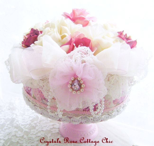 Shabby Victorian Rose Decorative Hat Box