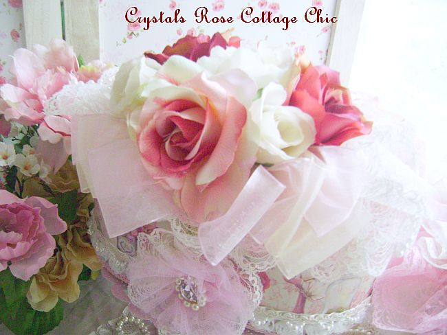 Shabby Victorian Rose Decorative Case