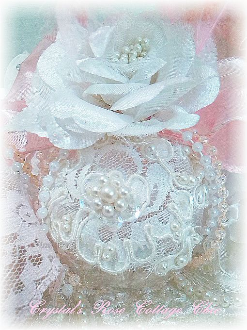White Winter Rose Ornament