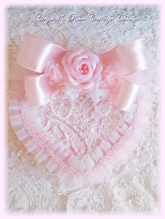 Vintage Lace Pink Valentines Day Heart Box