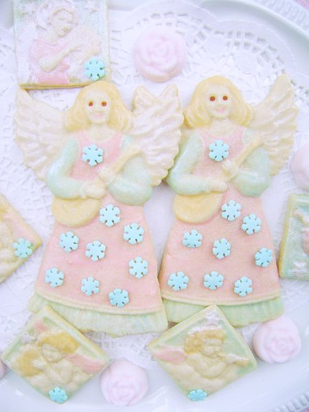 Shabby Cottage Snowflake Angel Christmas Cookies