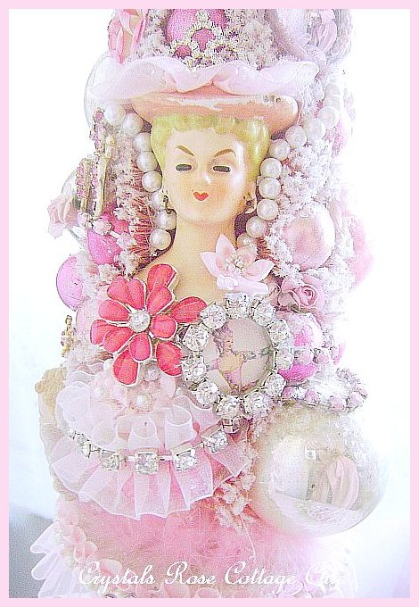Vintage Diva Princess Pink Bottle Brush Tree
