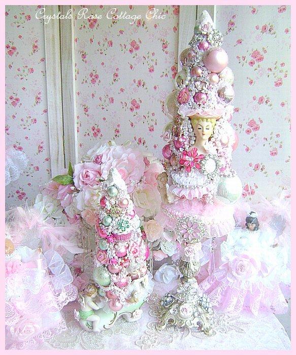 Vintage Diva Princess Pink Bottle Brush Tree