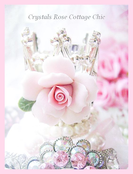 Bejeweled Perfume Bottle Glamour Shabby Chic