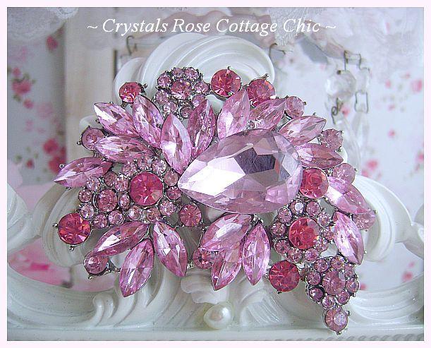 Pink Crystal Sparkle Frame