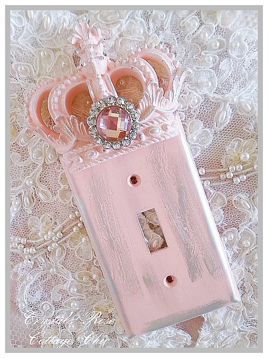 Shabby Pink Princess Distressed Wall Plate...Size & Style Options