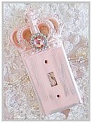 Shabby Pink Princess Distressed Single Toggle Wall Plate