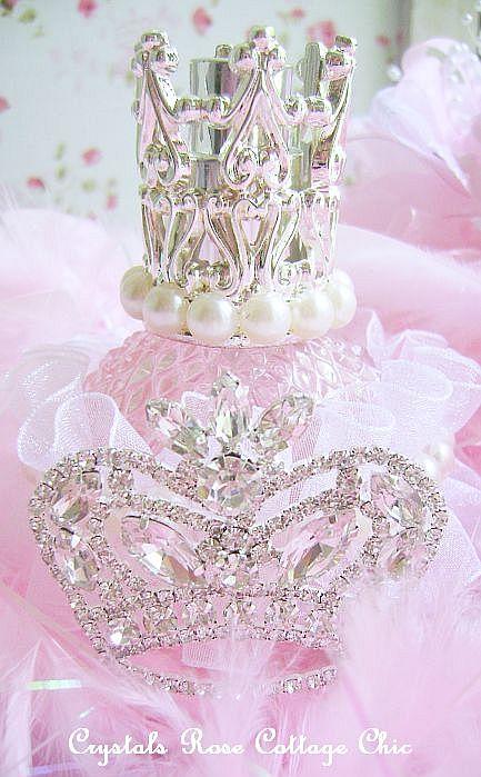 Pink Princess Crown Perfume Bottle