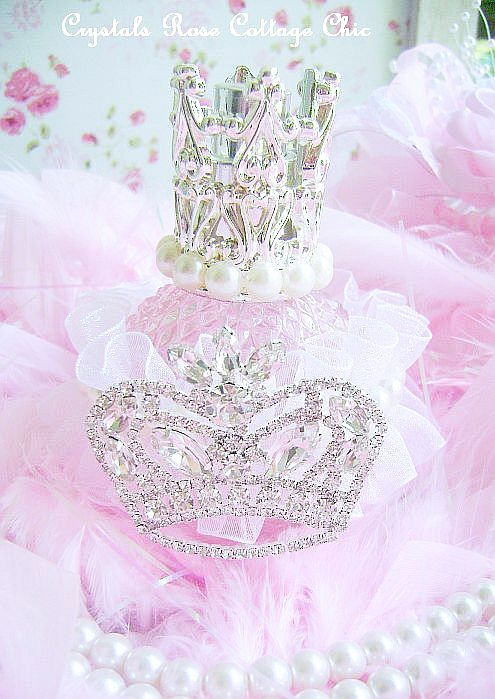Pink Princess Crown Perfume Bottle
