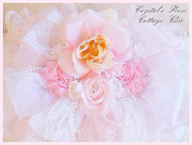 Shabby Pink Lace Jewelry Box