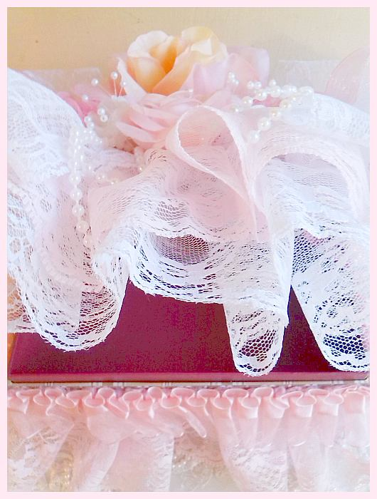 Shabby Pink Lace Jewelry Box
