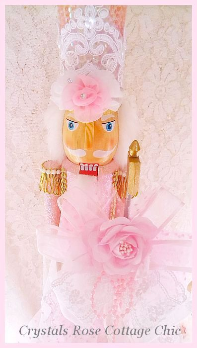 Sweet Shabby Pink Nutcracker