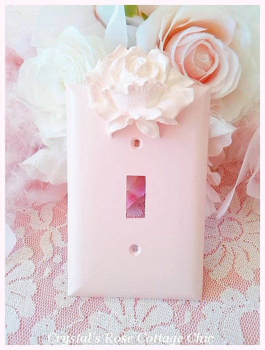 Single Pink Rose Wall Plate....Color and Size Options