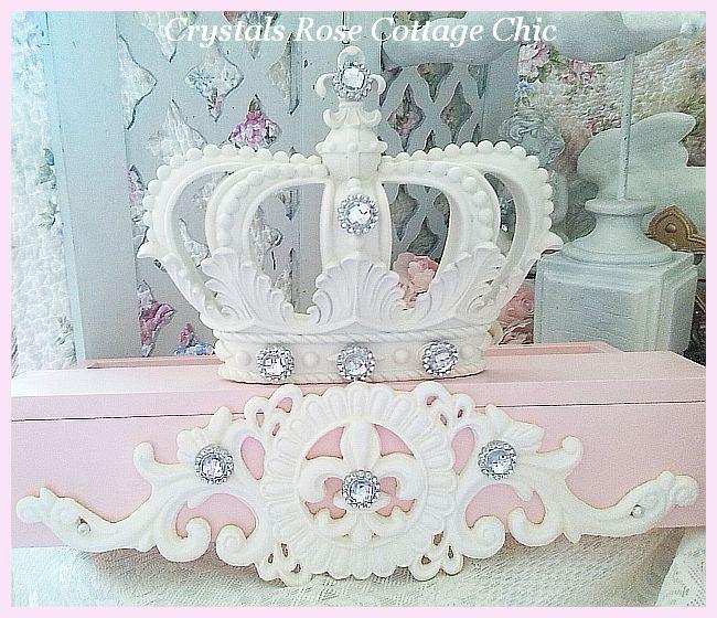 Custom Order Bed Crown , Pale Pink Teester