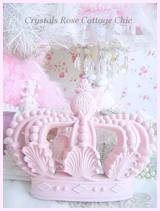 Shabby Pink Chic Bella Baroque Crown