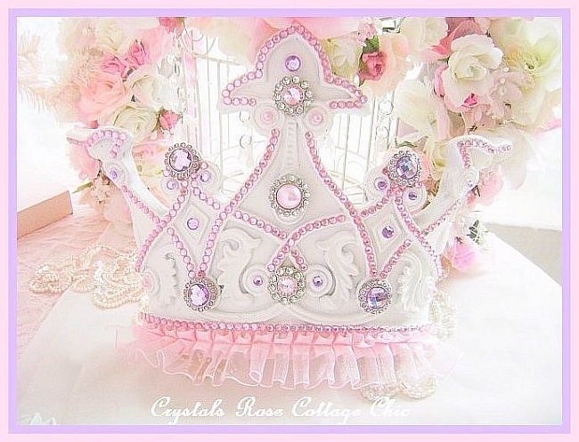 Lilac and Pink Princess Bed Crown Set