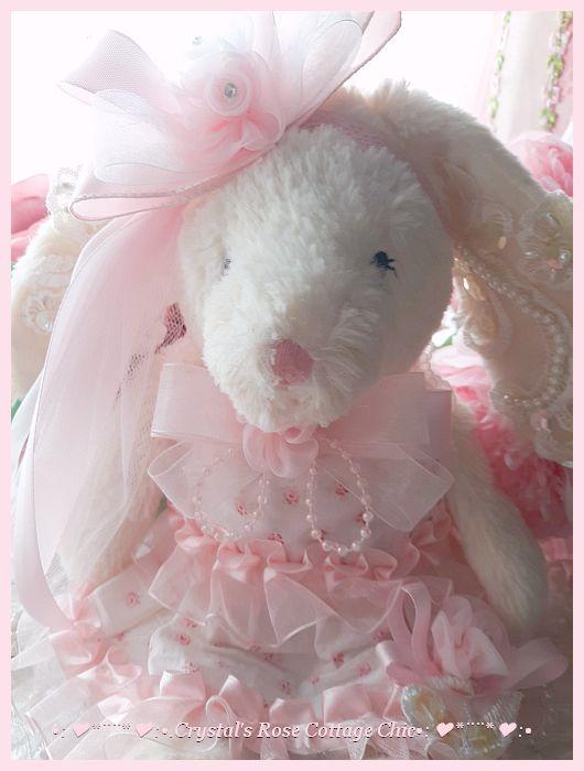 Sweet Shabby Chic Mon Ami Bunny