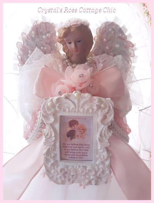 Pretty Pink Memory Remembrance Angel Tree Topper