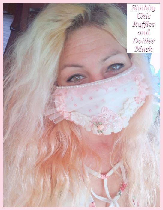 Shabby Chic Mon Ami Face Mask...Size Options...Free U.S. Shipping