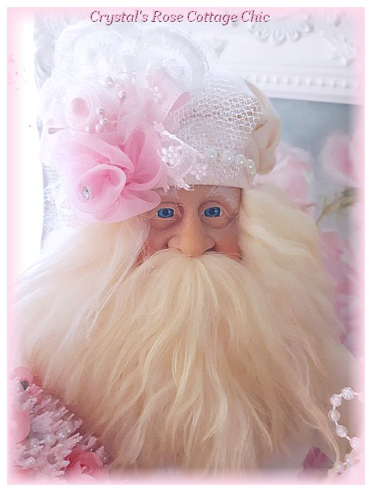 Shabby Chic Pink Baker Santa