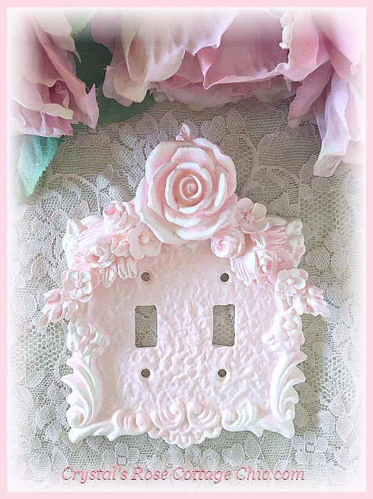 Floral Rose Swag Double Toggle Switchplate...Color Options