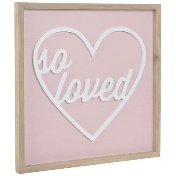 So Loved Pink Plaque