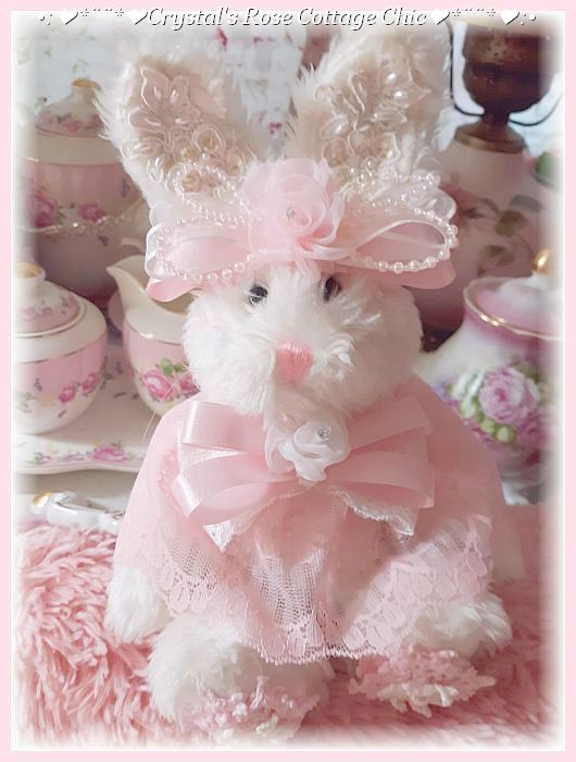 Shabby Chic Vintage Lace Bunny Love