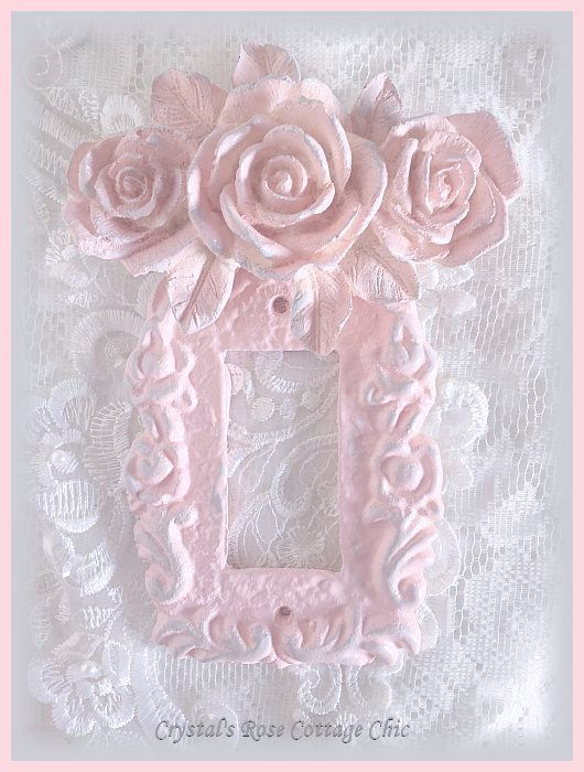 Triple Rose Victorian Single Rocker Switchplate...Paint Color and Finish Options