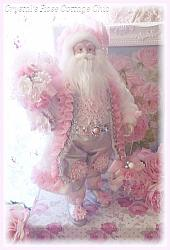 Shabby Rose Cottage Santa...19 Inch