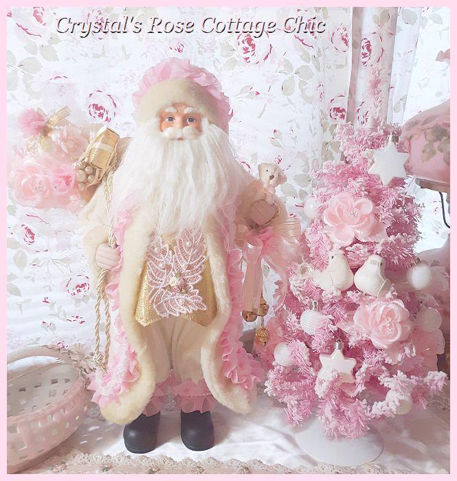 Charming Pink Santa with Bear...Restocked